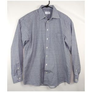 Eton Classic Fit Dress Shirt Geometric Pattern